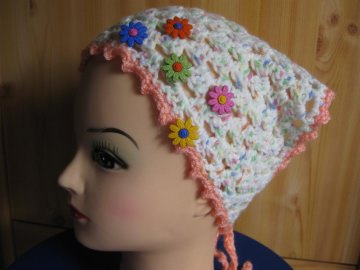 Kopftuch, Haarband, Haarschmuck, gehäkelt  - Handarbeit kaufen