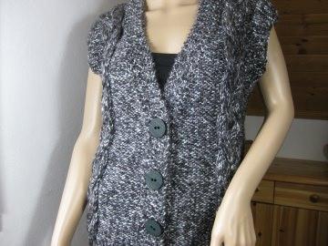 Ausgefallene Weste, gestrickt aus weicher Wolle mit Alpaka - Handarbeit kaufen