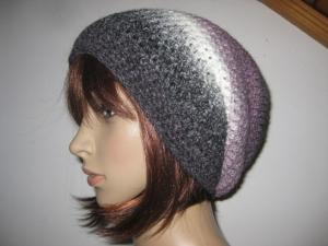 Mütze, gehäkelt aus Wolle mit Alpaka und schönem Farbverlauf, Beanie, Häkelmütze