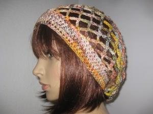 Mütze, Beanie, Sommer-Mütze aus weichem Baumwollgarn