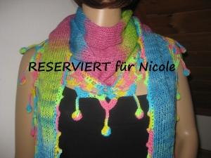 RESERVIERT für Nicole: Dreieckstuch, Schaltuch aus handgefärbter Wolle, Schal, Stola