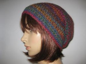 Mütze mit Alpaka und Farbverlauf, Beanie im Boshi Style, Häkelmütze