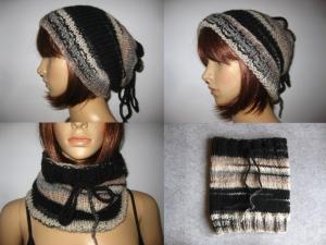 Mütze, Longbeanie, Loop - 3 in 1 - variabel tragbar - gestrickt  - Handarbeit kaufen