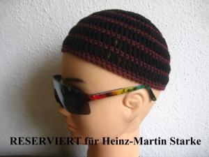 RESERVIERT für Heinz-Martin Starke: Männermütze extrakurz (ohrfrei), Mütze, aus Baumwolle mit Elasthan