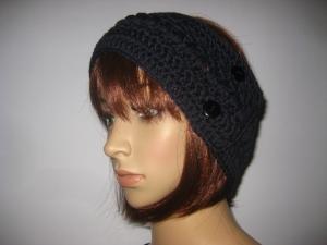 Stirnband, größenverstellbar, aus weicher Wolle mit hübschem Muster, Ohrwärmer, Haarband