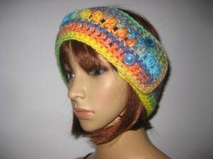 Stirnband, größenverstellbar, mit hübschem Muster, Ohrwärmer, Haarband  - Handarbeit kaufen
