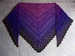 Großes Dreieckstuchtuch mit tollem Farbverlauf und Glitzerkante, Schal, Tuch, Stola
