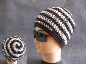 Männer-Mütze im Spiral-Design, Mütze, Beanie, Häkelmütze - Handarbeit kaufen