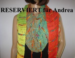 RESERVIERT für Andrea: Schaltuch mit Fransen und tollem Farbverlauf, aus weicher Baumwolle, Stola, Schal