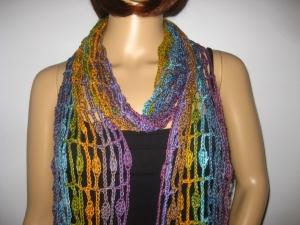 Schal, Stola mit hübschem Muster, Sommerschal, Schmuckschal  - Handarbeit kaufen