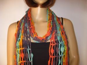 Schal mit hübschem Muster, Sommerschal, Schmuckschal, Stola - Handarbeit kaufen