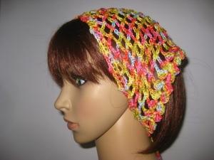 Kopftuch, Haarband, Haarschmuck, gehäkelt aus Baumwolle