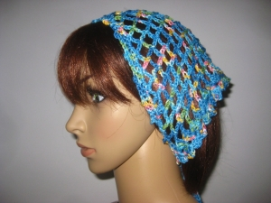 Kopftuch, Haarband, Haarschmuck, gehäkelt aus Baumwolle  - Handarbeit kaufen