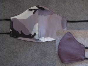 Alltagsmaske, Mund- und Nasenmaske, beidseitig tragbar, Baumwolle, KEIN VIRENSCHUTZ