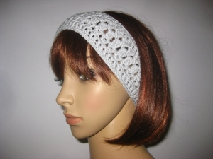 Stirnband aus elastischer Baumwolle, Haarband - Handarbeit kaufen