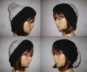 Warme Strickmütze, variabel tragbar, Mütze, Beanie, Grobstrickmütze, Hipstermütze  - Handarbeit kaufen