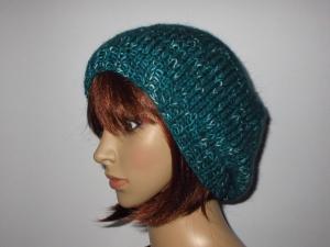 Mütze, Beanie, Strickmütze, leicht und in tollen Farben und mit etwas Mohair - Handarbeit kaufen