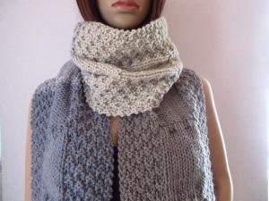Extralanger Schal aus weicher Wolle, XL-Schal, unisex - Handarbeit kaufen