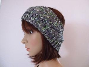 Stirnband mit Zopfmuster, Ohrwärmer, Haarband - Handarbeit kaufen