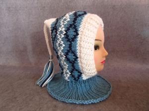 Schalmütze, Schlupfmütze, Zipfelmütze, Kindermütze aus mitteldicker Wolle - Handarbeit kaufen