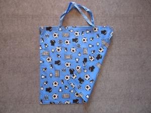 Einkaufstasche, Einkaufbeutel, Baumwolltasche, Beutel, Tasche, Fußball - Handarbeit kaufen