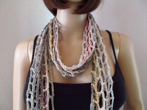 Schmuckschal, Schal mit Leinen, auf viele Arten tragbar - Handarbeit kaufen