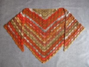 Großes Dreieckstuch aus weicher Baumwolle, Stola, Poncho, gehäkelt - Handarbeit kaufen
