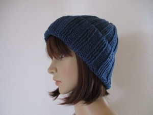 Strickmütze, Mütze, Beanie, Hipstermütze, formstabil durch elastische Wolle - Handarbeit kaufen