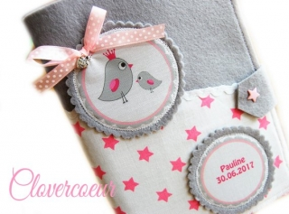 Vogel Mama & Baby 3 in 1 U-Heft Hülle Sterne Mädchen Junge U Heft - Handarbeit kaufen
