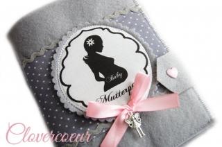 Mutterpasshülle Mutterpass Hülle Mama Silhouette - Handarbeit kaufen