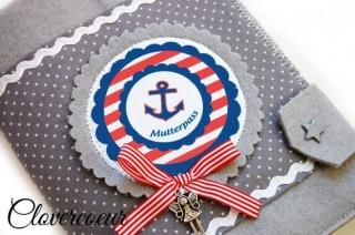 Mutterpass Hülle ANKER anchor maritime Mutterpass Hülle - Handarbeit kaufen