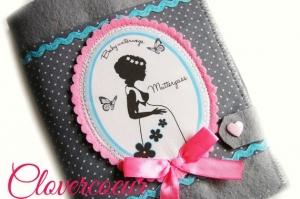 Mutterpasshülle Mama Silhouette Mutterpass Hülle rosa blau - Handarbeit kaufen
