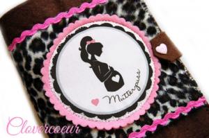 Mutterpasshülle Herz Mutterpass Hülle Mama Baby Mutterkindpass  Silhouette - Handarbeit kaufen