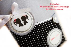 ZwillingSet TwinSet 3 in 1 U-Heft Hülle U-Hefthülle Junge Mädchen  Geschwister Zwillinge Bruder Schwester - Handarbeit kaufen