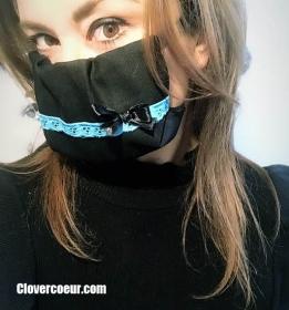 Mundbedeckung Gesichtsmaske Maske Gesicht Mund Öko-tex 100% Baumwolle Mundmaske Handmade