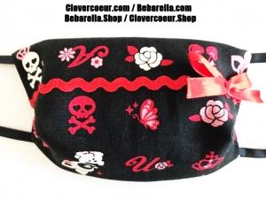 Mundbedeckung Gesichtsmaske Maske Gesicht Mund 100% Baumwolle Mundmaske Behelfsmaske Reh  Kawaii Kinder Frauen