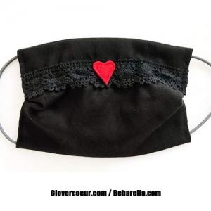 Mundbedeckung Gesichtsmaske Herz Maske Behelfsmaske Gesicht Mund Öko-tex  Behelfsmaske Behelfsbedeckung Frauen