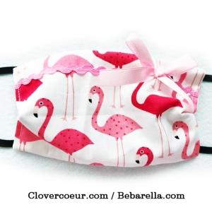 Mundbedeckung Gesichtsmaske Maske Gesicht Mund 100% Baumwolle Mundmaske Behelfsmaske Kinder Frauen Kawaii Flamingo