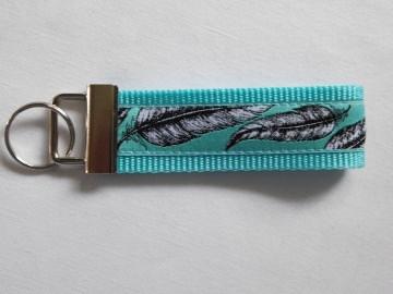 Schlüsselband - Federn- handgearbeitet
