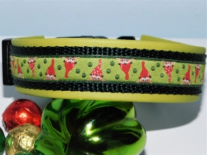 Hundehalsband  ♥ Wichtel  ♥ bis 35 cm  lederimitatunterfüttert