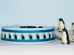 Hundehalsband  ♥ Arktis  ♥ 46-55 cm , lederunterfüttert, maßgefertigt