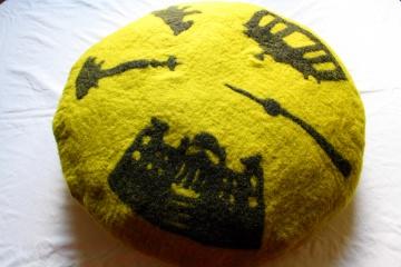 gefilztes großes Bodenkissen, gemütliches Kissen mit Berlinmotiv