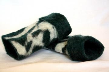 gefilzte Kinderstulpen, Armstulpen für Kinder aus weicher Wolle