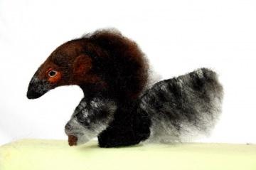 handgefilzte Fingerpuppe Ameisenbär Amalie