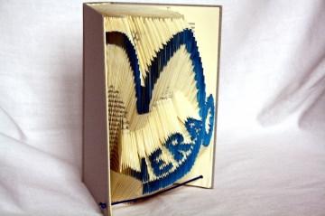 handgefaltete personalisierte Buchkunst Sternzeichen Steinbock