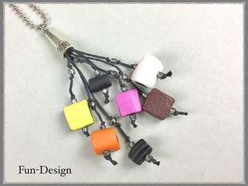 Tassel-Kette mit Haribo-Konfekten aus Fimo - jedes Konfekt habe ich einzeln modelliert