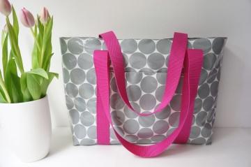 Strandtasche XL-Shopper, Schultertasche, Wachstuch