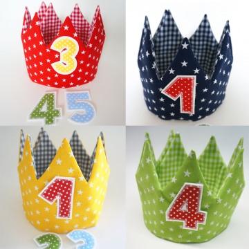 Geburtstagskrone, Farbe nach Wahl inklusive 3 Zahlen