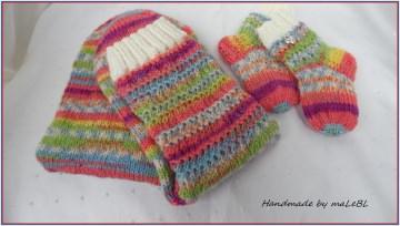 Babysocken und Wollsocken für Mama - handgestrickt