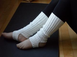 Yogasocken Ballett Pilates handgestrickt aus Wolle/Polyamid/Seide